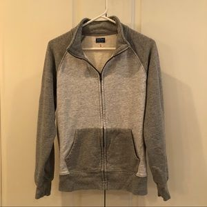 Gray J. Crew Vintage Fleece Zip Up